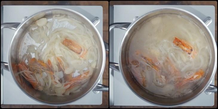 Bước 3 Nấu canh Canh Tom Yum