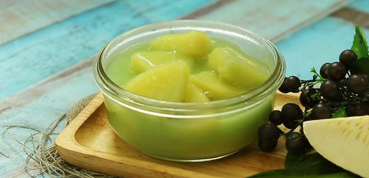 Bước 4 Thành phẩm Cách nấu chè sa kê lá dứa cốt dừa dẻo ngon