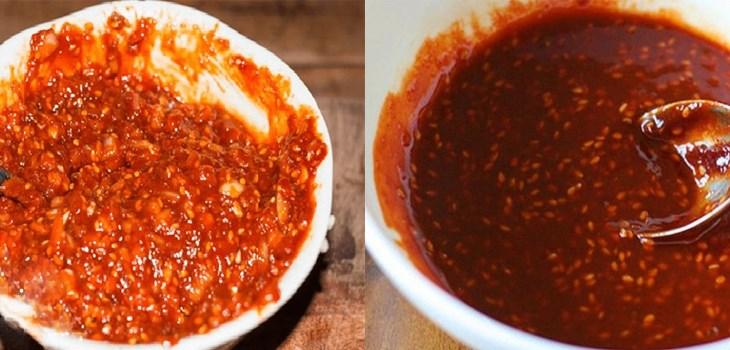 Bước 1 Trộn các nguyên liệu với nhau Sốt chấm thịt nướng kiểu Hàn Quốc