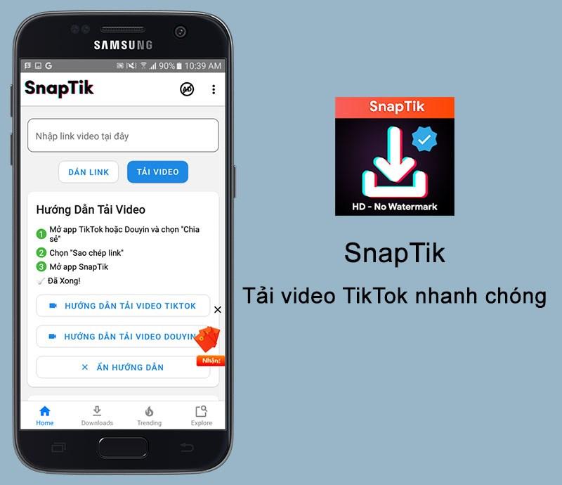ứng dụng SnapTik