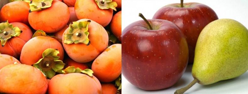Xếp chung hồng với lê, táo để hồng không bị chát