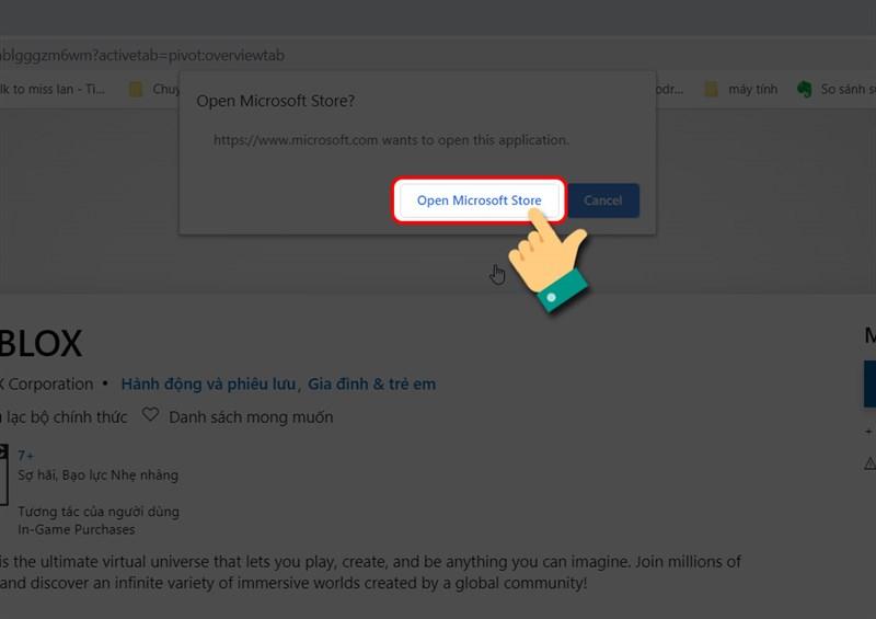 Mở cửa hàng Microsoft