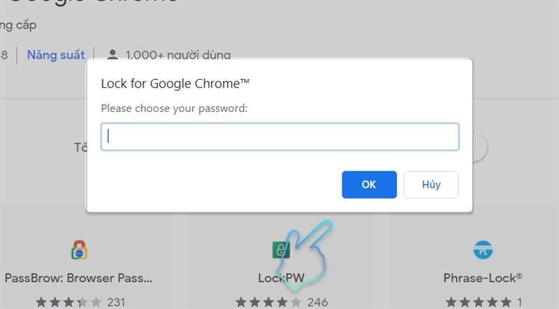 thông báo tạo password