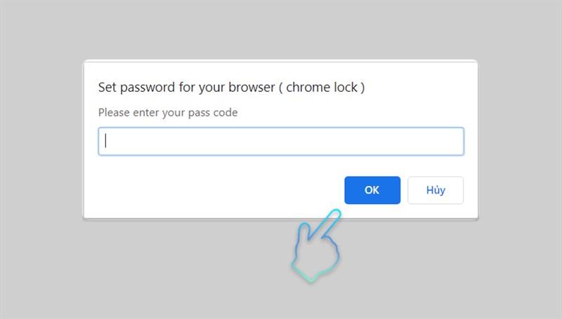 Nhập password để tiếp tục sử dụng
