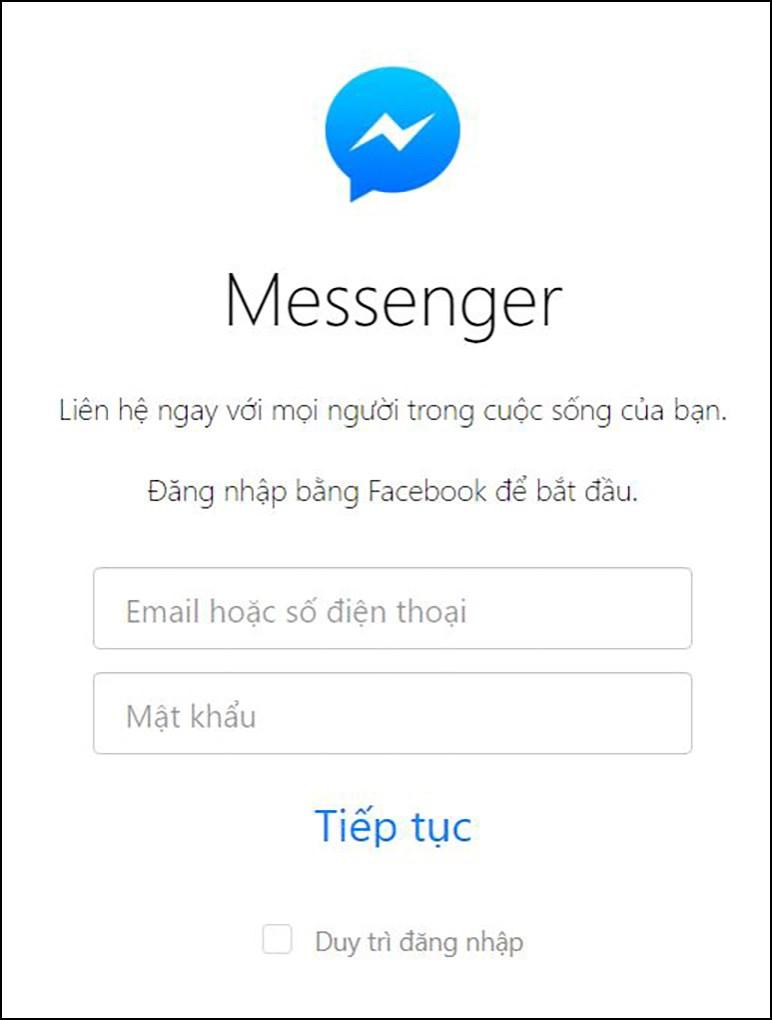 bạn đã đăng xuất messenger web thành công.