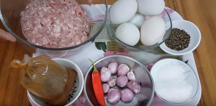 Nguyên liệu món ăn mắm chưng thịt hột vịt