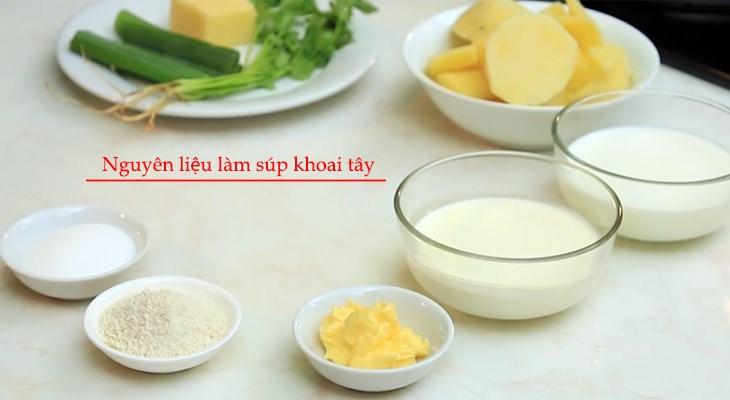 Nguyên liệu món ăn súp khoai tây