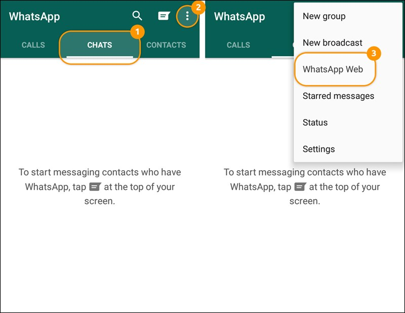 Chọn WhatsApp Web