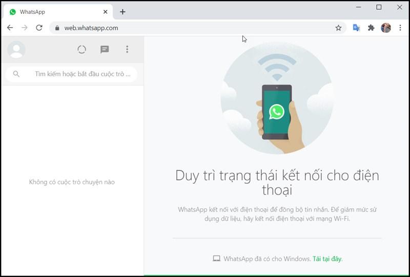 Trải nghiệm WhatsApp trên web dễ dàng