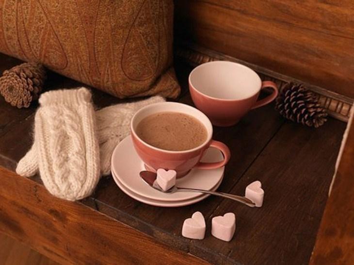 Pha cacao nóng bằng bếp đun