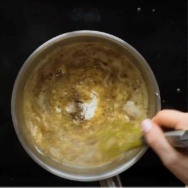 Bước 2 Nấu hỗn hợp bơ Khoai tây nướng phô mai kiểu Pháp - Potatoes gratin