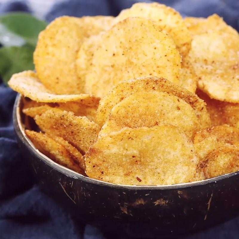 Bước 4 Thành phẩm Snack khoai tây