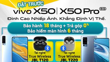 Đặt trước Vivo X50