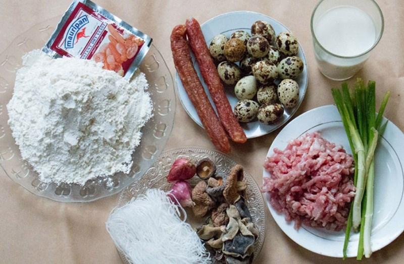 Nguyên liệu món ăn bánh bao chiên