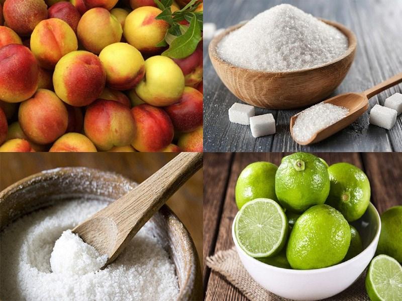 Nguyên liệu món ăn đào ngâm