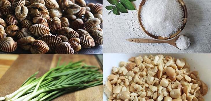Nguyên liệu món ăn 3 cách làm sò huyết