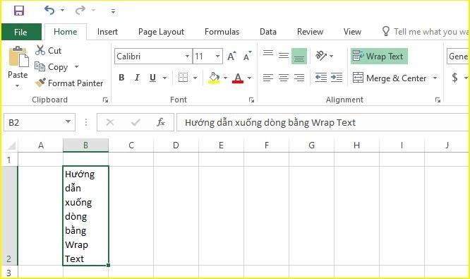 4 cách xuống dòng trong excel và google spreadsheets đơn giản nhất