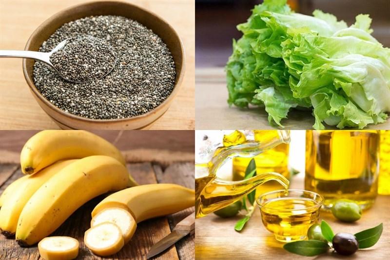Nguyên liệu món ăn salad hạt chia