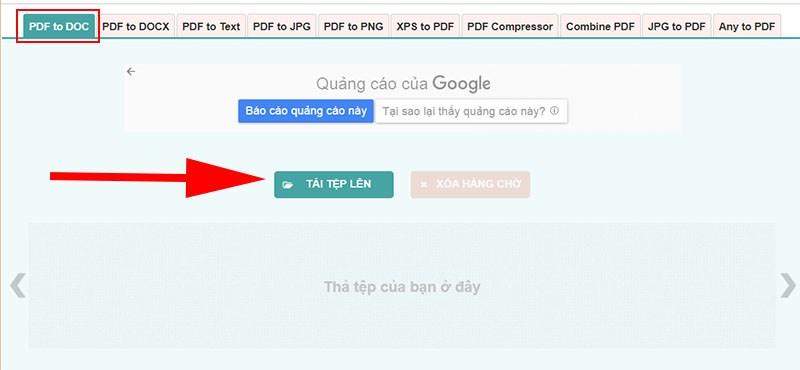 Tải tệp tin PDF lên ứng dụng