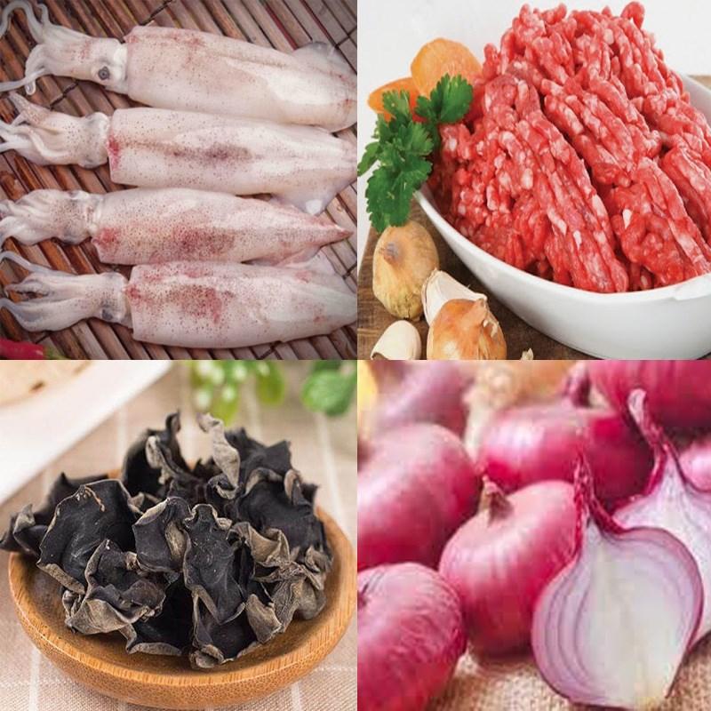 Nguyên liệu món ăn 3 cách làm mực nhồi thịt