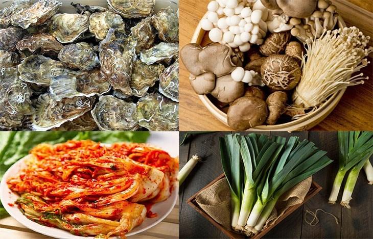 Nguyên liệu món ăn lẩu hàu