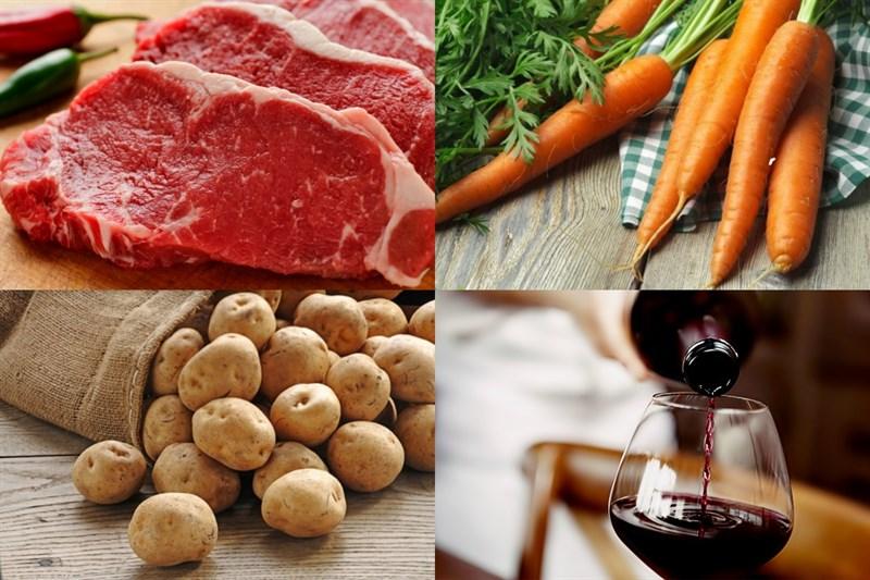 Nguyên liệu món ăn cách làm bò sốt vang