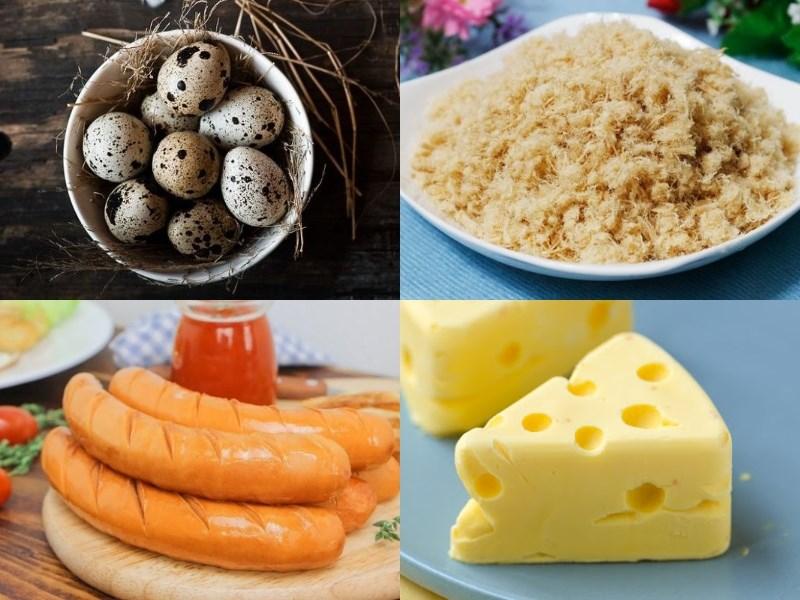 Nguyên liệu món ăn bánh trứng cút nướng