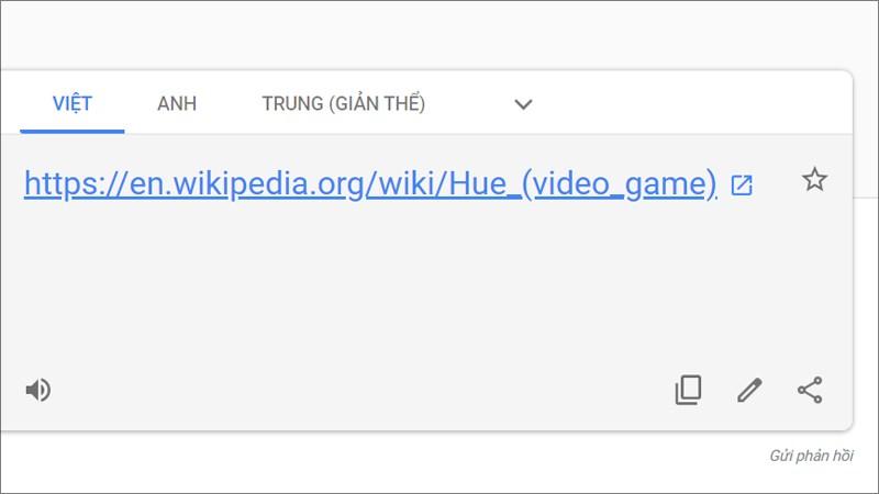 Google Dịch tự động dịch link trang web