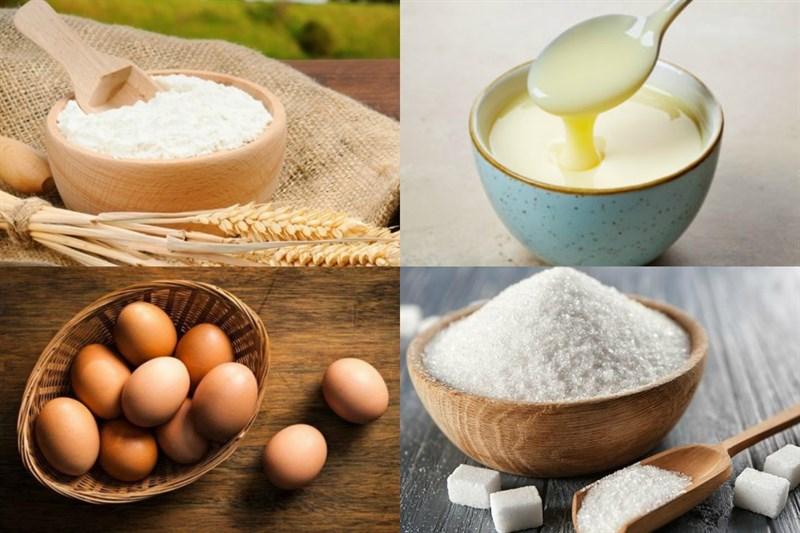 Nguyên liệu món ăn 2 cách làm bánh bột mì chiên và hấp