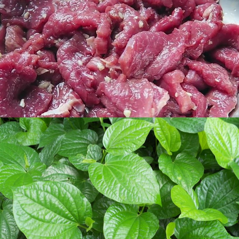 Nguyên liệu món ăn thịt trâu nướng