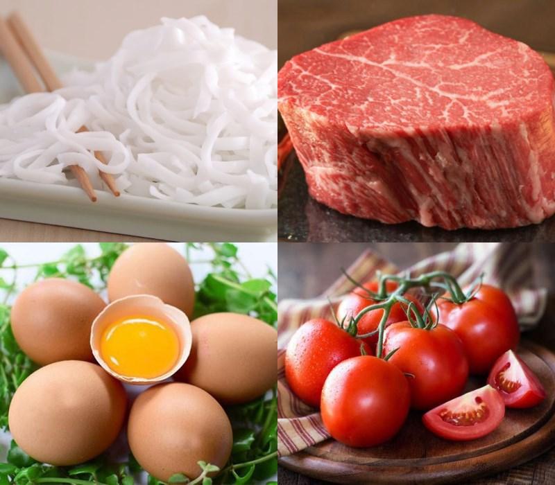 Nguyên liệu món ăn phở xào
