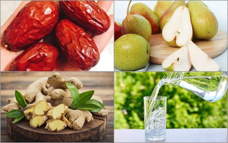 Nguyên liệu món ăn 3 công thức trà táo đỏ