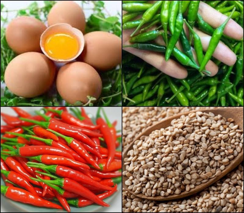 Nguyên liệu món ăn trứng ngâm tương