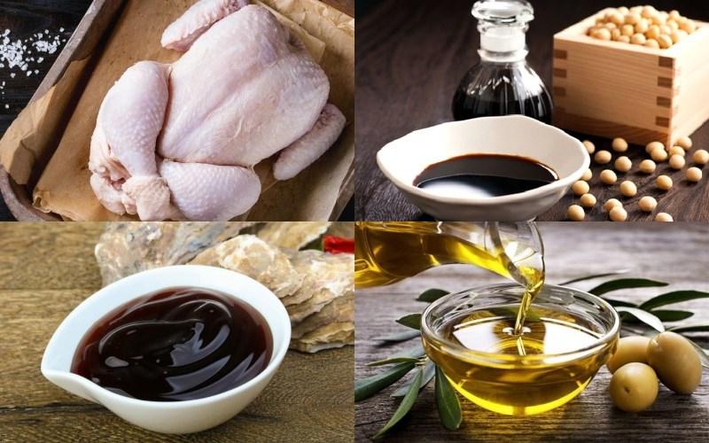 Nguyên liệu món ăn gà nướng tiêu nguyên con