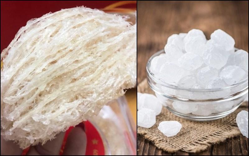 Nguyên liệu món ăn yến chưng đường phèn