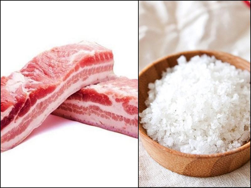 Nguyên liệu món ăn thịt heo nướng da giòn