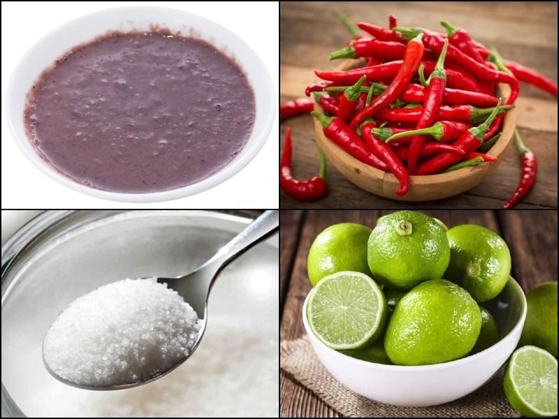 Nguyên liệu món ăn mắm tôm chấm bún đậu
