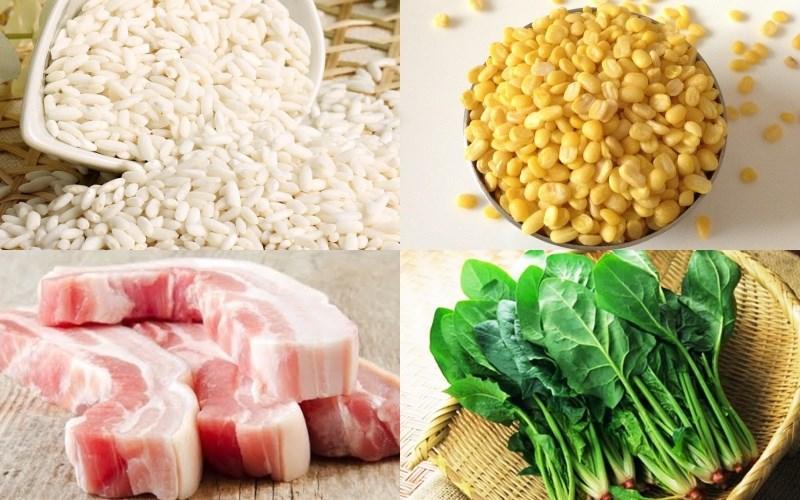 Nguyên liệu món ăn xôi khúc đậu xanh