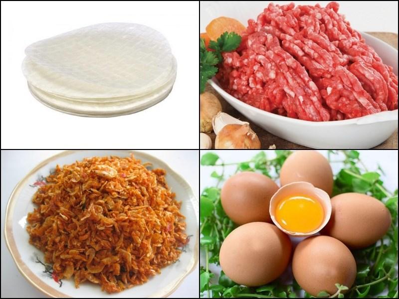 Nguyên liệu món ăn bánh tráng nướng