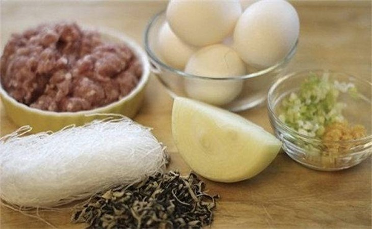 Nguyên liệu món ăn chả trứng cơm tấm