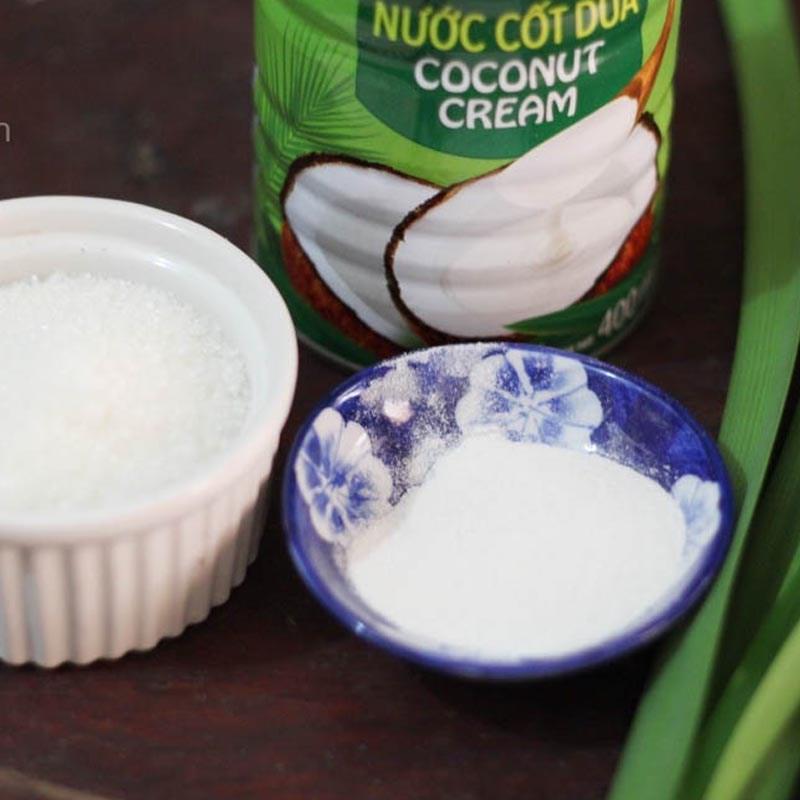 Nguyên liệu món ăn thạch dừa viên bi