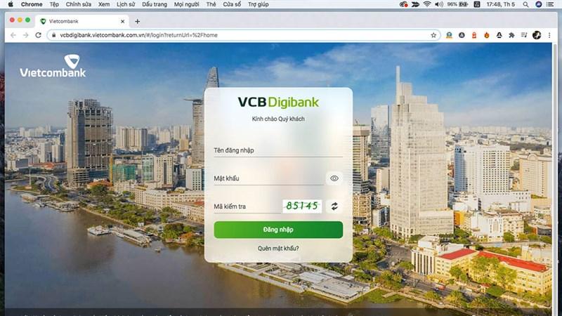 Hướng dẫn đăng ký Vietcombank Digibank mới từ VCB Internet Banking (trên máy tính)