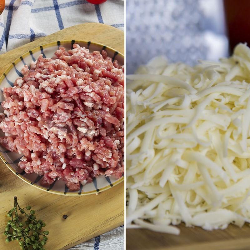 Nguyên liệu món ăn thịt viên phô mai đút lò