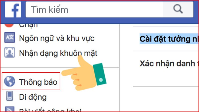 Cách tắt thông báo Facebook