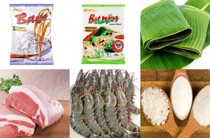 Nguyên liệu món ăn bánh nậm huế
