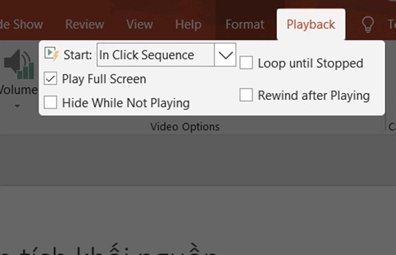 Chọn chế độ phát video