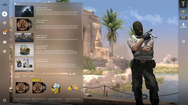 Đợi game tải về thành công, mở game và chiến CS:GO thôi nào