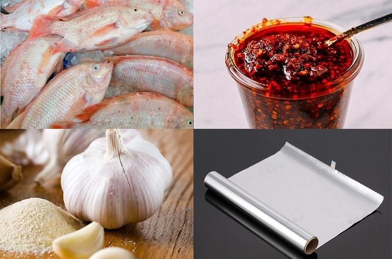 Nguyên liệu món ăn 2 món cá diêu hồng nướng