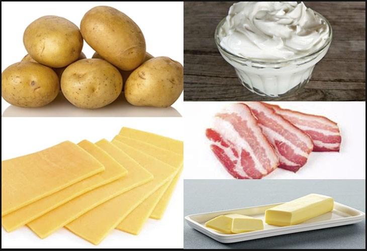 Nguyên liệu món ăn khoai tây đút lò phô mai