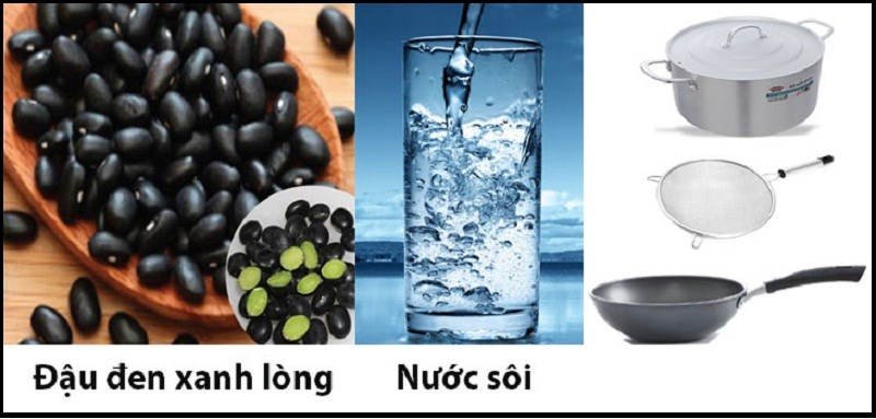 Nguyên liệu món ăn nước đậu đen rang